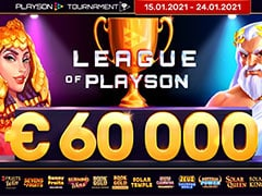 Playson 総額€60,000 League of Playson トーナメント
