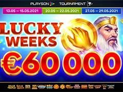 Playson社 Lucky Weeks トーナメント